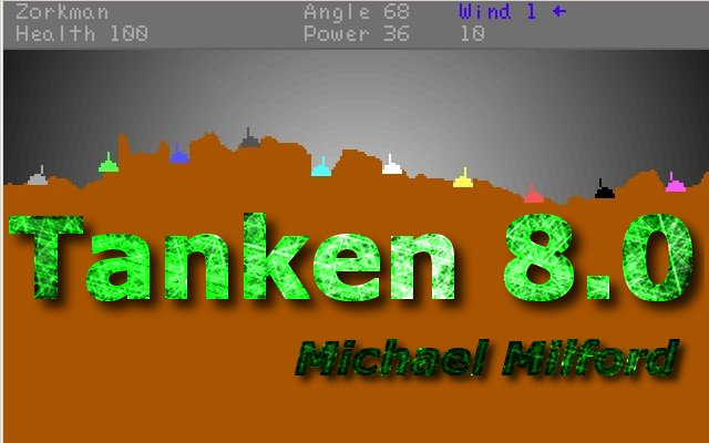 Tanken - side view tank war game.